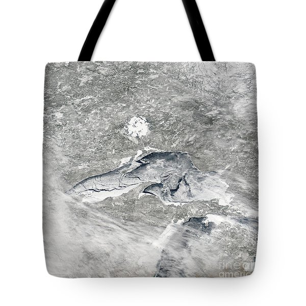 A Relatively Rare Blanket Of Ice Rests Tote Bag by Stocktrek Images