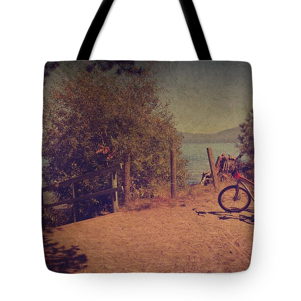 A Ride Down To The Lake Tote Bag by Laurie Search