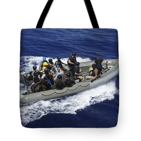A Rigid-hull Inflatable Boat Carrying Tote Bag by Stocktrek Images