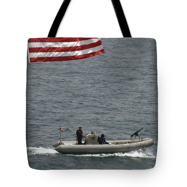 A Rigid Hull Inflatable Boat Tote Bag by Stocktrek Images