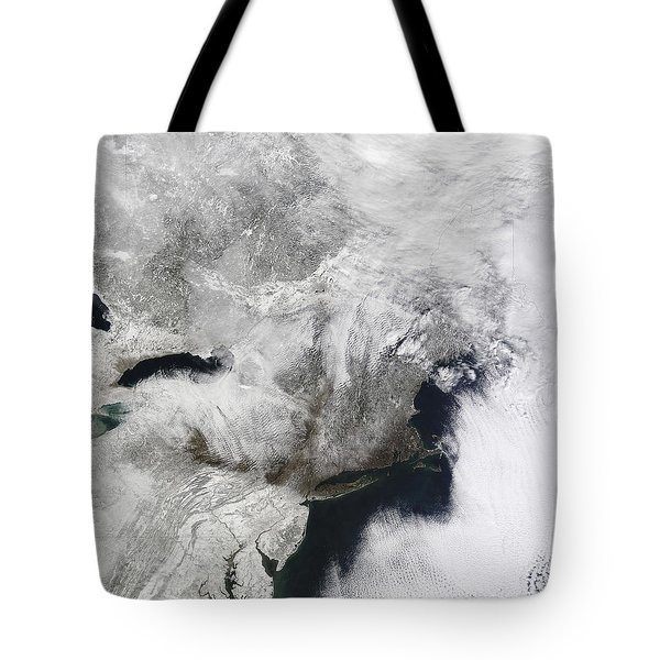 A Severe Winter Storm Tote Bag by Stocktrek Images