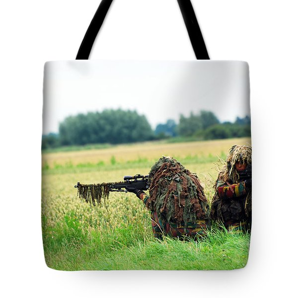 A Sniper Unit Of The Paracommandos Tote Bag by Luc De Jaeger