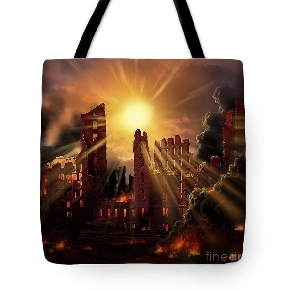 A Solar Flare, An Enormous Eruption Tote Bag by Ron Miller