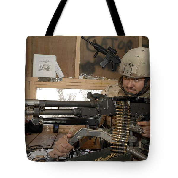 A Soldier Conducts An Observation Tote Bag by Stocktrek Images