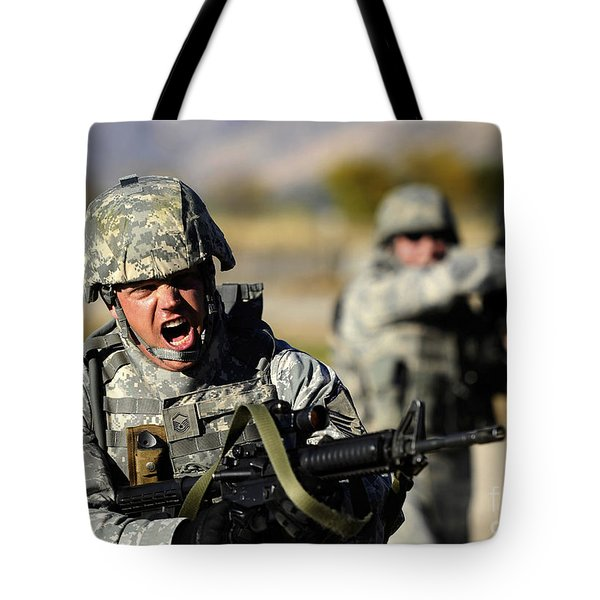 A Soldier Shows His Emotions Tote Bag by Stocktrek Images