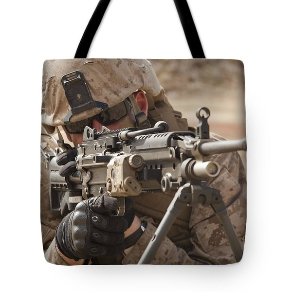 A Squad Automatic Weapon Gunner Tote Bag by Stocktrek Images