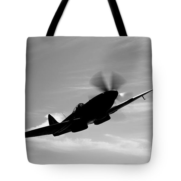 A Supermarine Spitfire Mk-18 In Flight Tote Bag by Scott Germain
