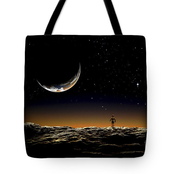 A Thin Veil Of Gaseous Material Tote Bag by Frank Hettick