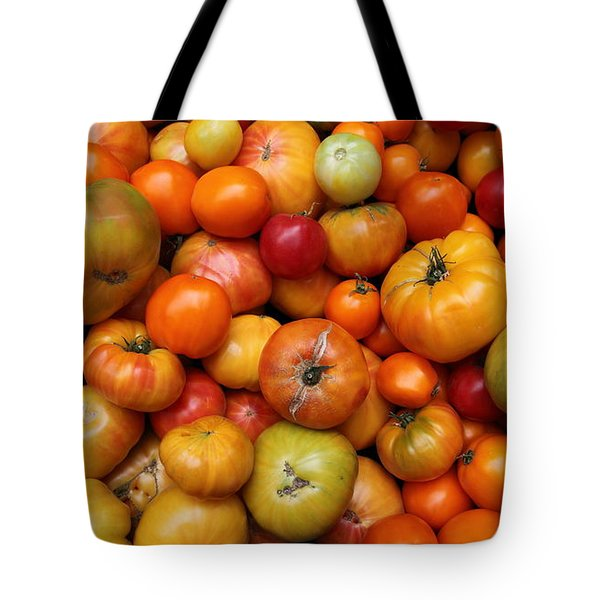 A Variety Of Fresh Tomatoes - 5d17812-long Tote Bag by Wingsdomain Art and Photography