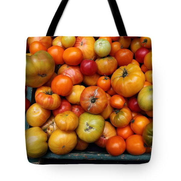 A Variety of Fresh Tomatoes - 5D17812 Tote Bag by Wingsdomain Art and Photography