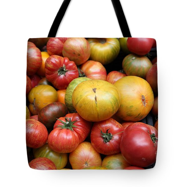 A Variety of Fresh Tomatoes - 5D17840 Tote Bag by Wingsdomain Art and Photography