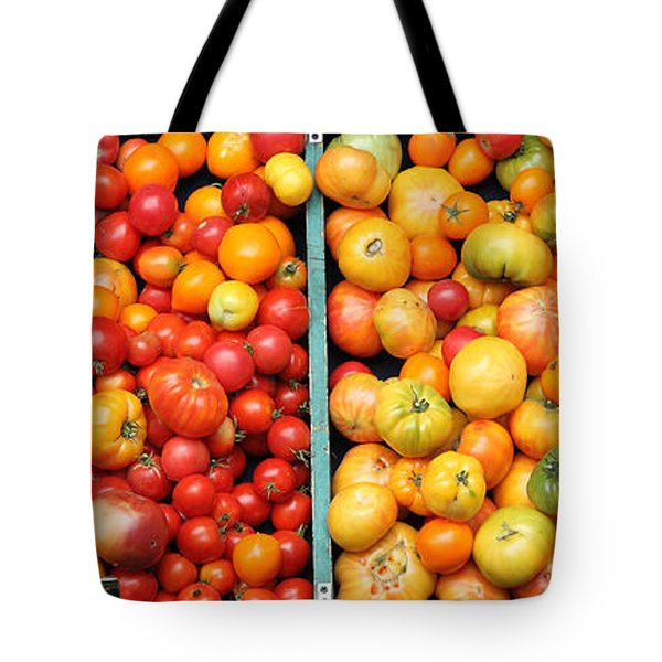 A Variety of Fresh Tomatoes - 5D17904-long Tote Bag by Wingsdomain Art and Photography