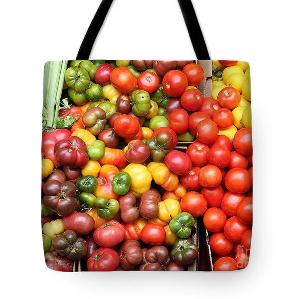A Variety of Fresh Tomatoes and Celeries - 5D17901 Tote Bag by Wingsdomain Art and Photography