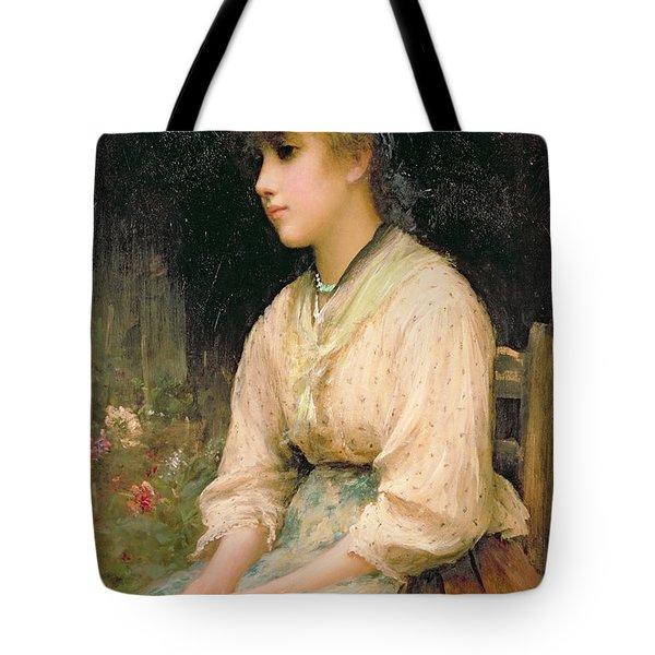 A Venetian Flower Girl Tote Bag by Sir Samuel Luke Fildes