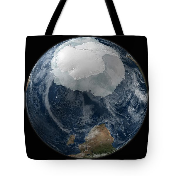 A View Of The Earth With The Full Tote Bag by Stocktrek Images