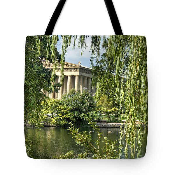 A View of the Parthenon 10 Tote Bag by Douglas Barnett