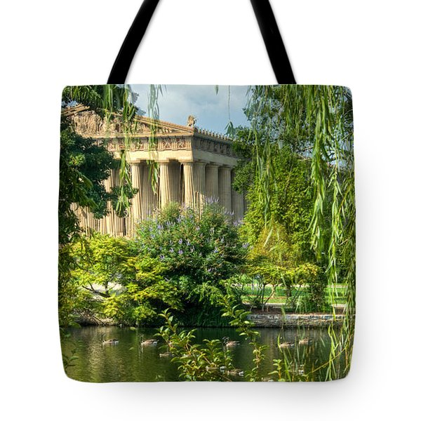 A View of the Parthenon 13 Tote Bag by Douglas Barnett