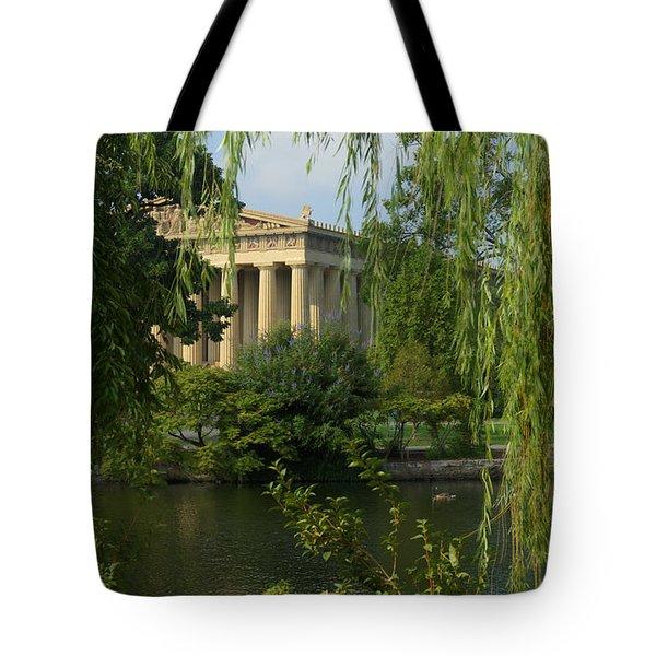 A View Of The Parthenon 3 Tote Bag by Douglas Barnett