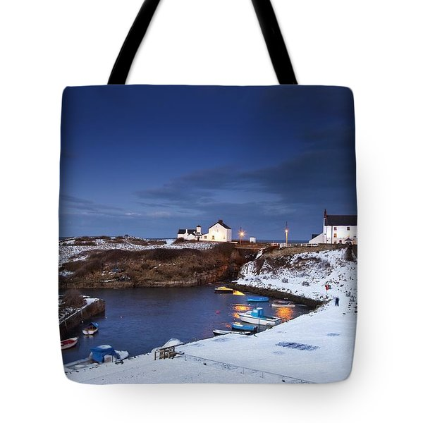 A Village On The Coast Seaton Sluice Tote Bag by John Short