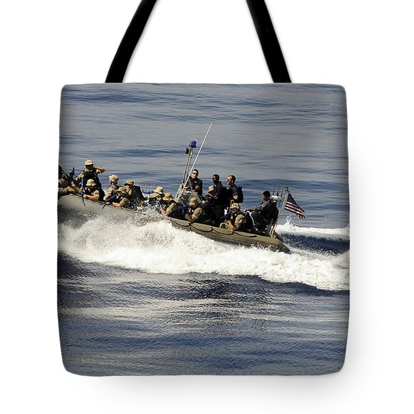 A Visit, Board, Search And Seizure Team Tote Bag by Stocktrek Images