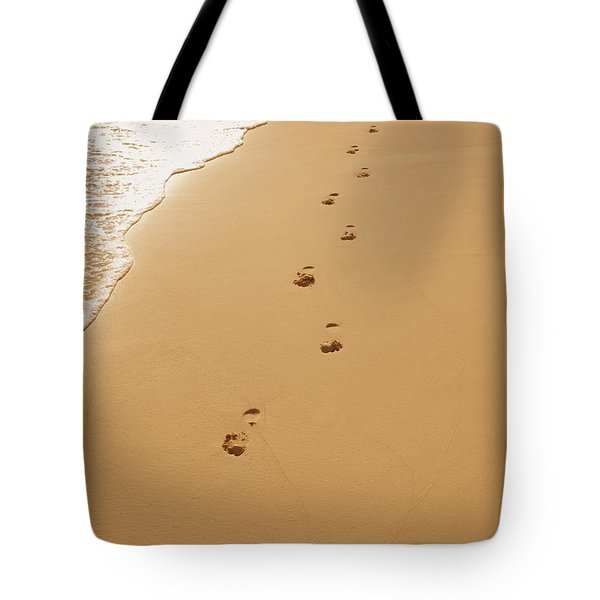 A Walk On The Beach Tote Bag by Don Hammond
