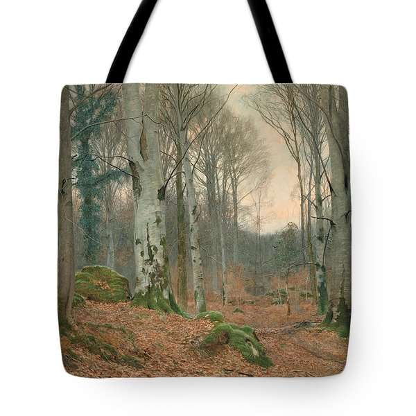 A Welsh Wood In Winter Tote Bag by JT Watts