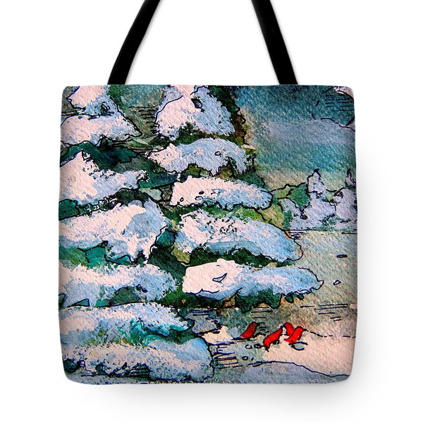 A Winter Feast Tote Bag by Mindy Newman