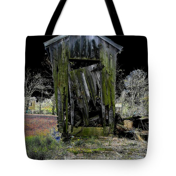 Abandoned Tote Bag by Cindy Roesinger
