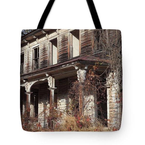 Abandoned Dilapidated Homestead Tote Bag by John Stephens