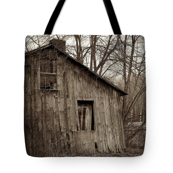 Abandoned Farmstead Facade Tote Bag by John Stephens
