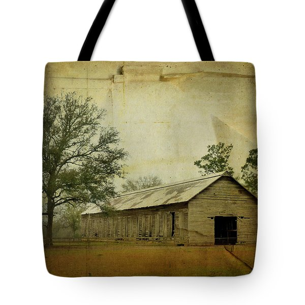 Abandoned Tobacco Barn Tote Bag by Carla Parris