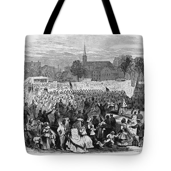 Abolition Of Slavery Tote Bag by Photo Researchers