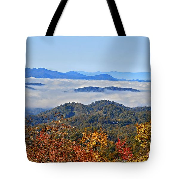 Above The Clouds Tote Bag by Susan Leggett