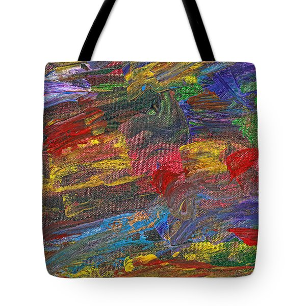 Abstract - Acrylic - Anger Joy Stability Tote Bag by Mike Savad