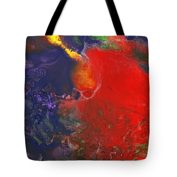 Abstract - Crayon - Andromeda Tote Bag by Mike Savad