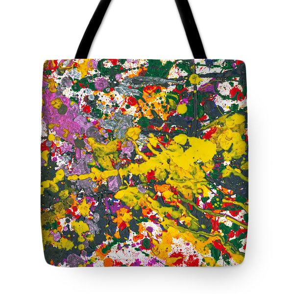 Abstract - Crayon - One Evening At The Diner Tote Bag by Mike Savad