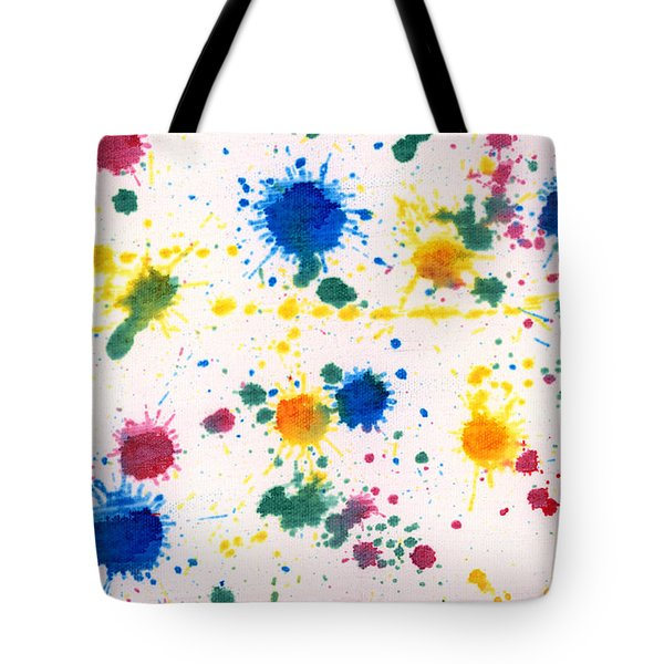 Abstract - Gesso And Food Color - My New Carpet Tote Bag by Mike Savad