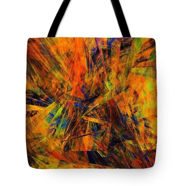 Abstract 100611 Tote Bag by David Lane