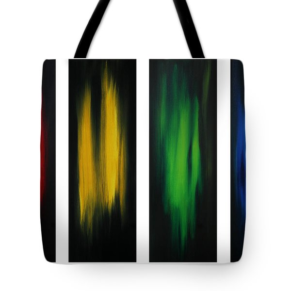 Abstract Art Colorful Original Painting Winter Passion By Madart Tote Bag by Megan Duncanson