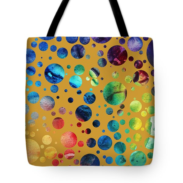 Abstract Art Digital Pixelated Painting Image Of Beauty Of Color By Madart Tote Bag by Megan Duncanson