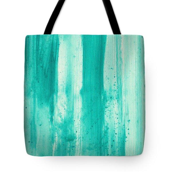 Abstract Art Original Decorative Painting Aqua Passion By Madart Tote Bag by Megan Duncanson