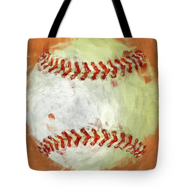 Abstract Baseball Tote Bag by David G Paul