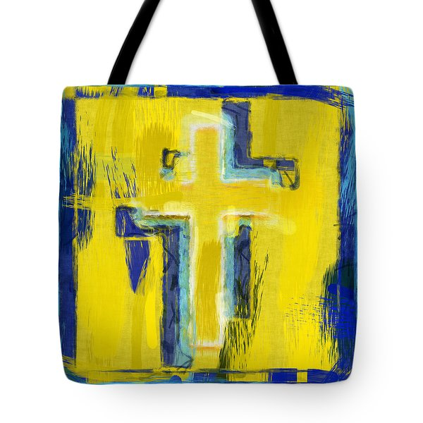 Abstract Crosses Tote Bag by David G Paul