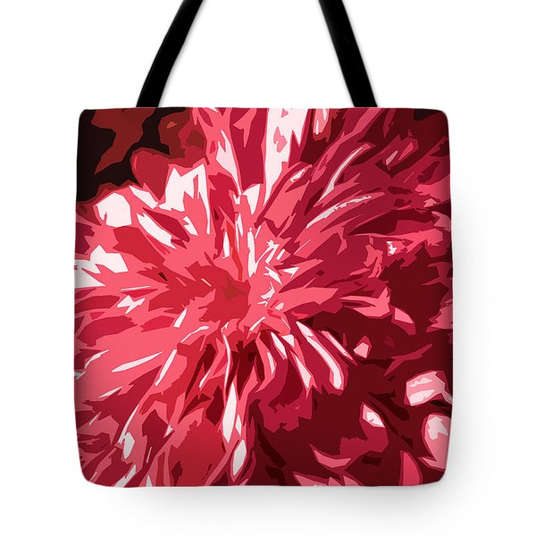 abstract flowers Tote Bag by Sumit Mehndiratta
