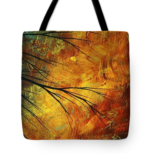 Abstract Landscape Art PASSING BEAUTY 5 of 5 Tote Bag by Megan Duncanson