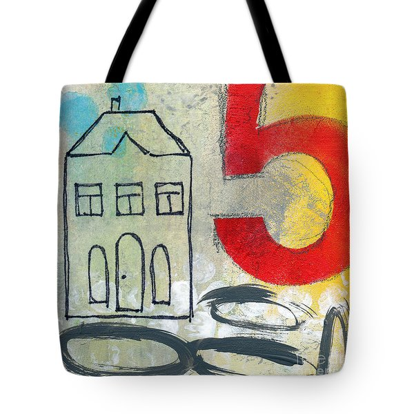 Abstract Landscape Tote Bag by Linda Woods