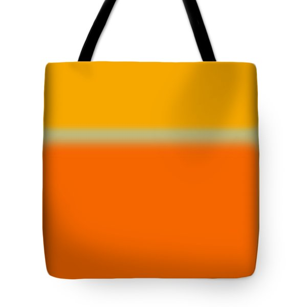 Abstract Orange And Yellow Tote Bag by Naxart Studio