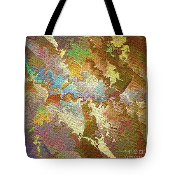 Abstract Puzzle Tote Bag by Deborah Benoit