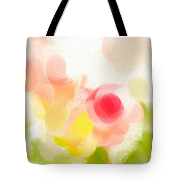 Abstract Roses Tote Bag by Tom Gowanlock