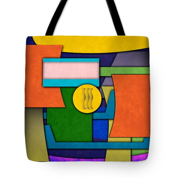 Abstract Shapes Color One Tote Bag by Gary Grayson